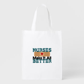 Nurses Make It All Better Reusable Grocery Bag