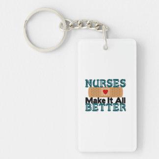 Nurses Make It All Better Single-Sided Rectangular Acrylic Keychain