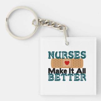 Nurses Make It All Better Single-Sided Square Acrylic Keychain