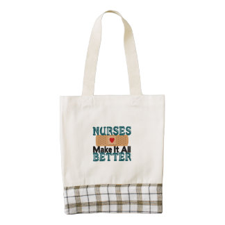 Nurses Make It All Better Zazzle HEART Tote Bag