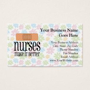 School nurse business cards templates zazzle nurses make it better bandage business card colourmoves Choice Image