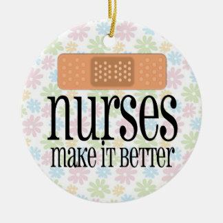Nurses Make it Better, Bandage Ceramic Ornament