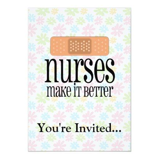 "Nurses Make it Better, Bandage 5"" X 7"" Invitation Card"