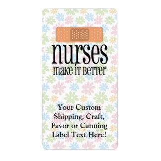 Nurses Make it Better, Bandage Label