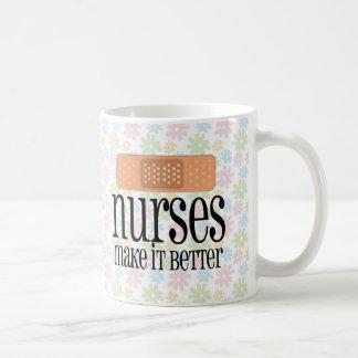Nurses Make it Better, Bandage Classic White Coffee Mug