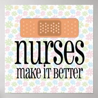Nurses Make it Better, Bandage Poster
