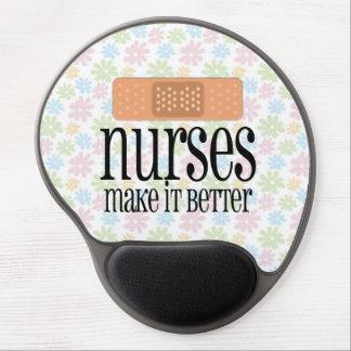 Nurses Make it Better, Cute Nurse Bandage Gel Mouse Pad