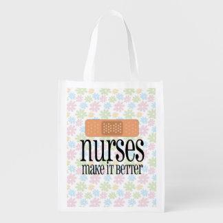 Nurses Make it Better, Cute Nurse Bandage Grocery Bag