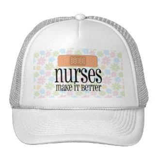 Nurses Make it Better Cute Nurse Bandage Mesh Hats
