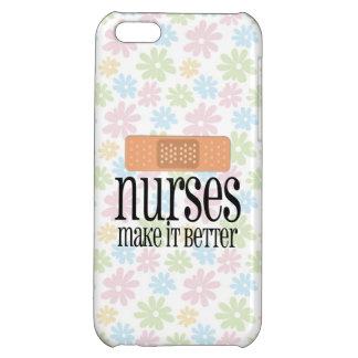Nurses Make it Better, Cute Nurse Bandage iPhone 5C Cases