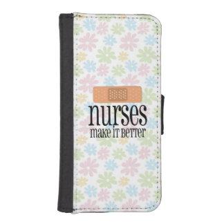 Nurses Make it Better, Cute Nurse Bandage iPhone SE/5/5s Wallet Case