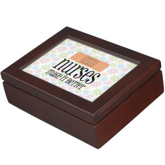 Nurses Make it Better, Cute Nurse Bandage Keepsake Box