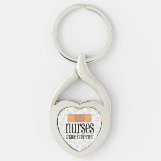 Nurses Make it Better, Cute Nurse Bandage Keychain