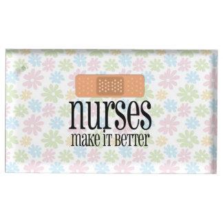 nurses make it better cute nurse bandage place card holder