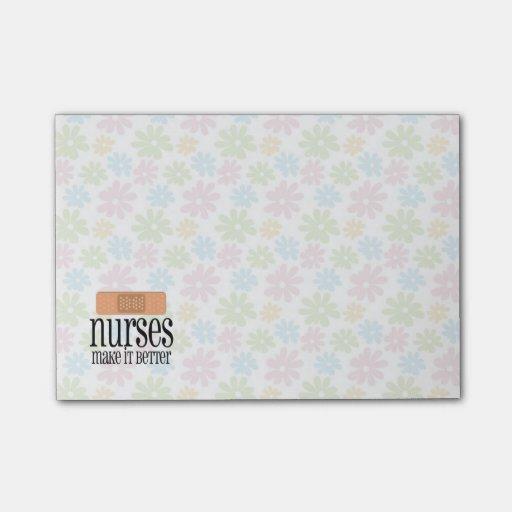 Nurses Make it Better, Cute Nurse Bandage Post-it® Notes