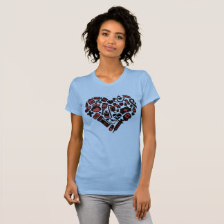 Nurses Make the World go Round Heart T-Shirt