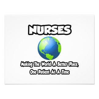 Nurses...Making the World a Better Place Custom Invites