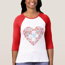 Nurses medical collage heart t-shirt