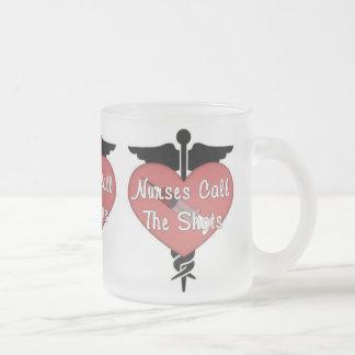 Nurses Medical Pride Frosted Glass Coffee Mug
