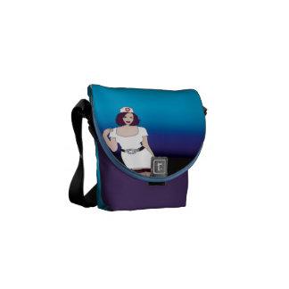 Nurses Mini Messenge Bag with CPR Instructions