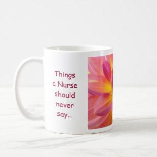 Nurses Mugs Things a Nuse should never say...