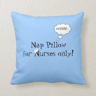 Nurses Nap Pillow-Blue Throw Pillow