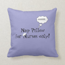 Nurses Nap Pillow-Lavender Throw Pillow