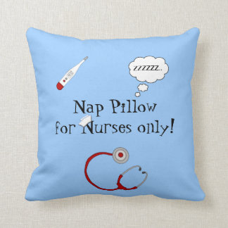 Nurses Nap Pillow-Stethoscope/Thermometer Throw Pillow