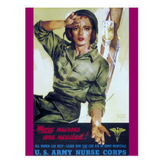 Nurses Needed Recruitment Poster Postcard