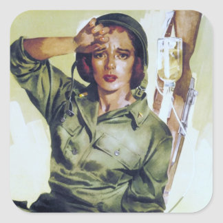 Nurses Needed Recruitment Poster Square Sticker