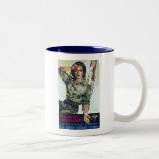 Nurses Needed Recruitment Poster Two-Tone Coffee Mug