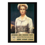 "Nurses Needed World War II 5"" X 7"" Invitation Card"