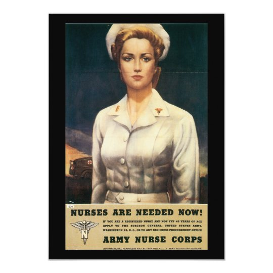 Nurses Needed World War II Card