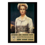 Nurses Needed World War II Greeting Card