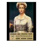 Nurses Needed World War II Postcard