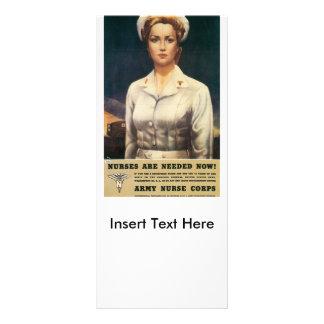 Nurses Needed World War II Rack Card
