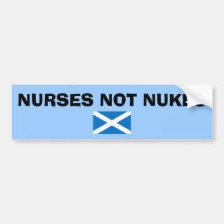Nurses Not Nukes Scottish Independence Sticker Car Bumper Sticker