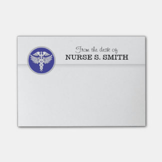 Nurses organizer to do list | Blue Post-it Notes