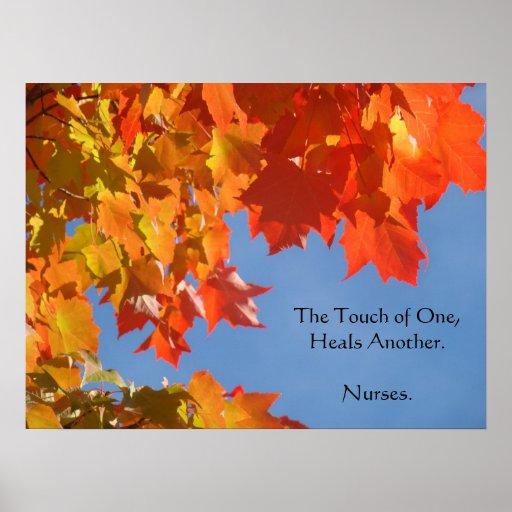 Nurses Posters art Nursing Healing Touch prints