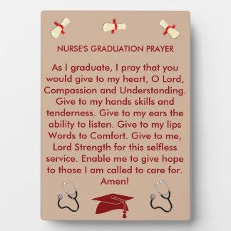 Nurse's Prayer Graduation Plaque