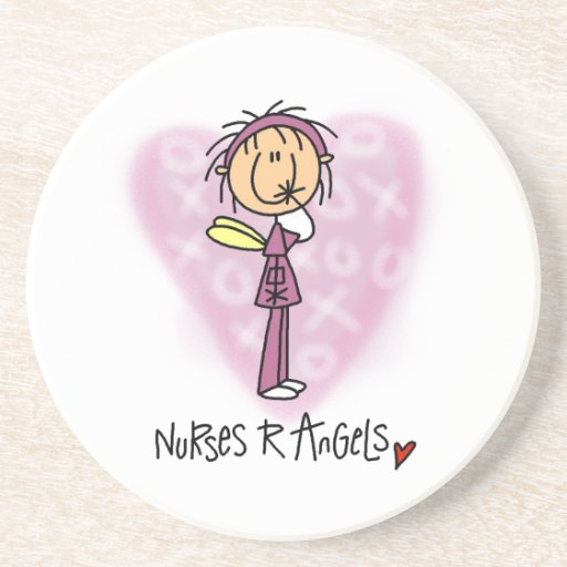 Nurses R Angels T-shirts and Gifts Drink Coaster