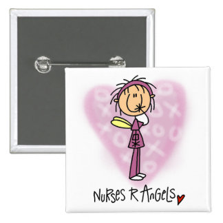 Nurses R Angels Tshirts and Gifts 2 Inch Square Button