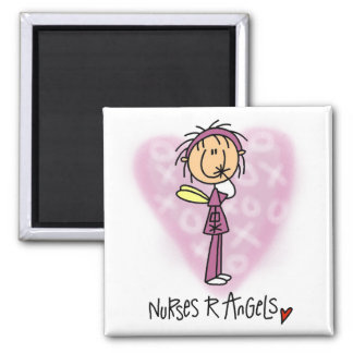 Nurses R Angels Tshirts and Gifts 2 Inch Square Magnet