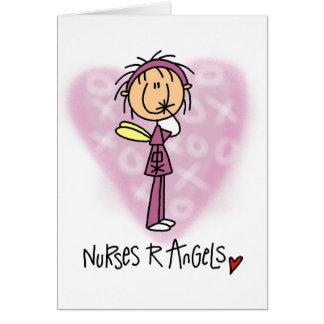 Nurses R Angels Tshirts and Gifts Greeting Card