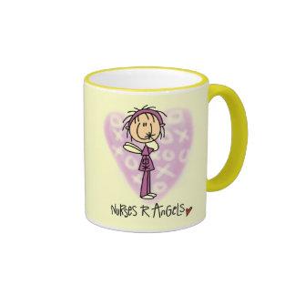 Nurses R Angels Tshirts and Gifts Ringer Mug