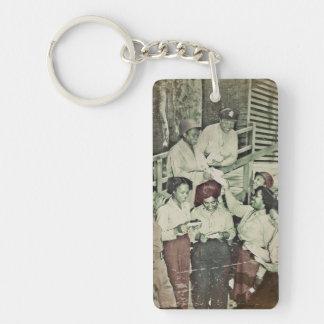 Nurses Receive Mail WWII Single-Sided Rectangular Acrylic Keychain