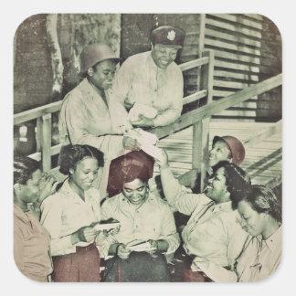 Nurses Receiving Mail Square Sticker
