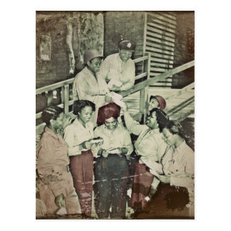 Nurses  Receiving Their First Mail Postcard