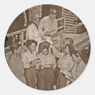 Nurses  Receiving Their First Mail Classic Round Sticker