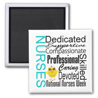 Nurses Recognition Collage - National Nurses Week 2 Inch Square Magnet